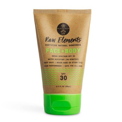 Raw Elements Face and Body Mineral Sunscreen Tube - SPF 30 - 3 fl oz