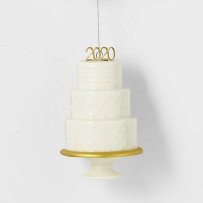 3 Tier Wedding Cake 2020 White Christmas Tree Ornament - Wondershop™