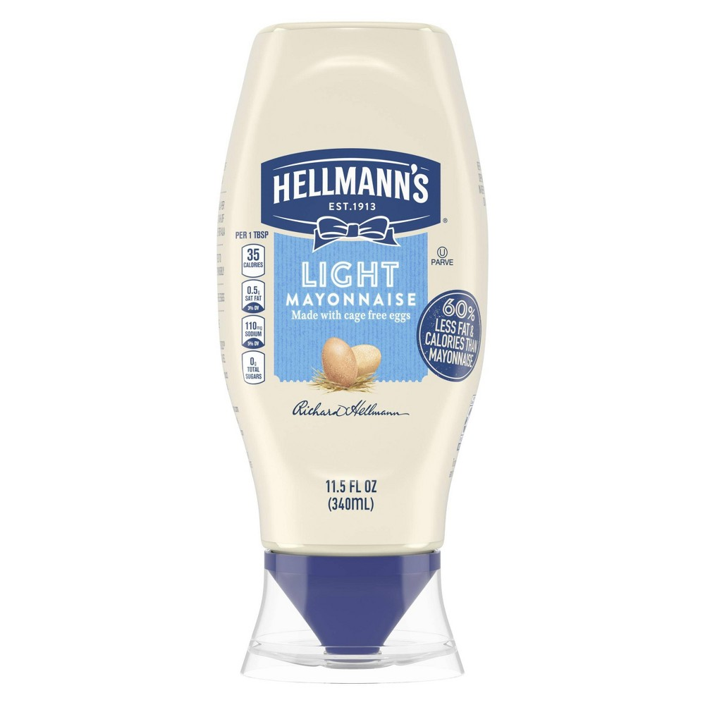 Hellmanns Light Mayonnaise Squeeze - 11.5oz Price