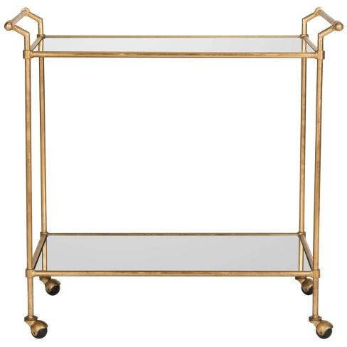 Bar Cart Metal/Gold - Safavieh - image 1 of 4
