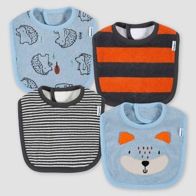 Gerber Baby Boys' 4pk Fox Bib - Gray