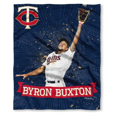 MLB Minnesota Twins Bryon Buxton Silk Touch Throw Blanket
