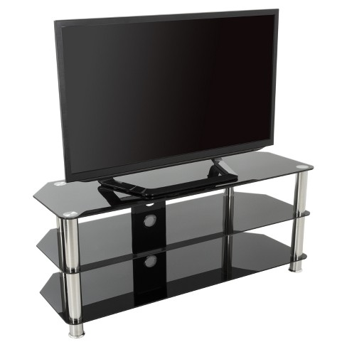 Cable Management Tv Stand 55 Silver Black Avf