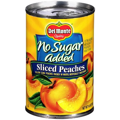 Del Monte No Sugar Added Sliced Peaches 14.5oz
