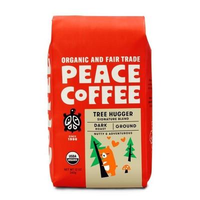 Peace Coffee Dark Roast Tree Hugger Ground Coffee - 12oz