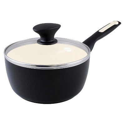 GreenPan Rio 2-Quart Ceramic Non-Stick Covered Saucepan, Black