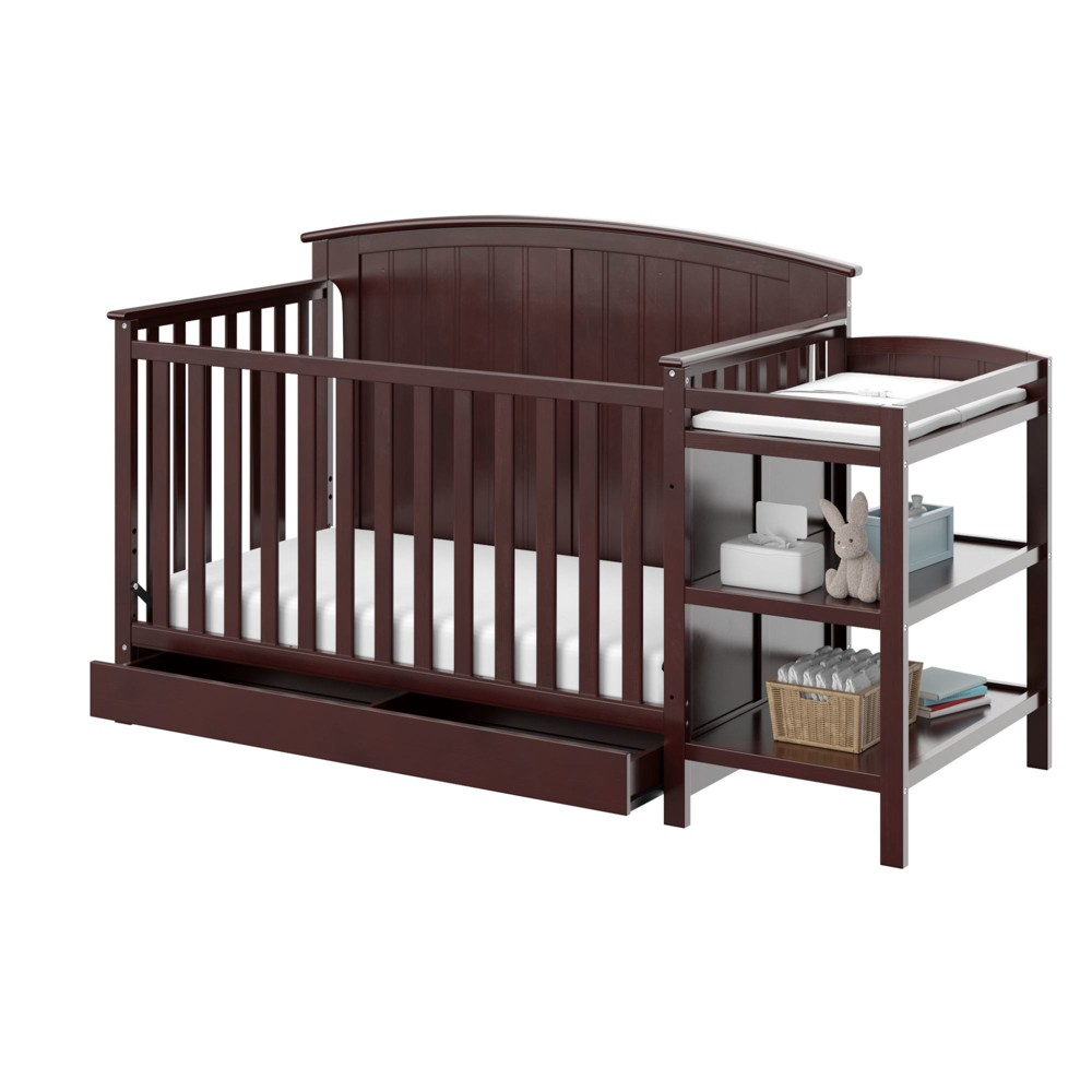 Storkcraft Steveston 4-in-1 Convertible Crib and Changer with Drawer - Espresso (Brown)