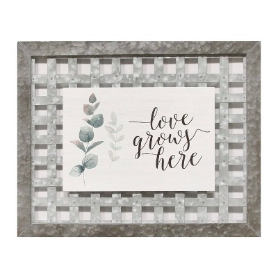 "20"" x 16.25"" Love Grows Her"" Wall Art - Stratton Home Décor"