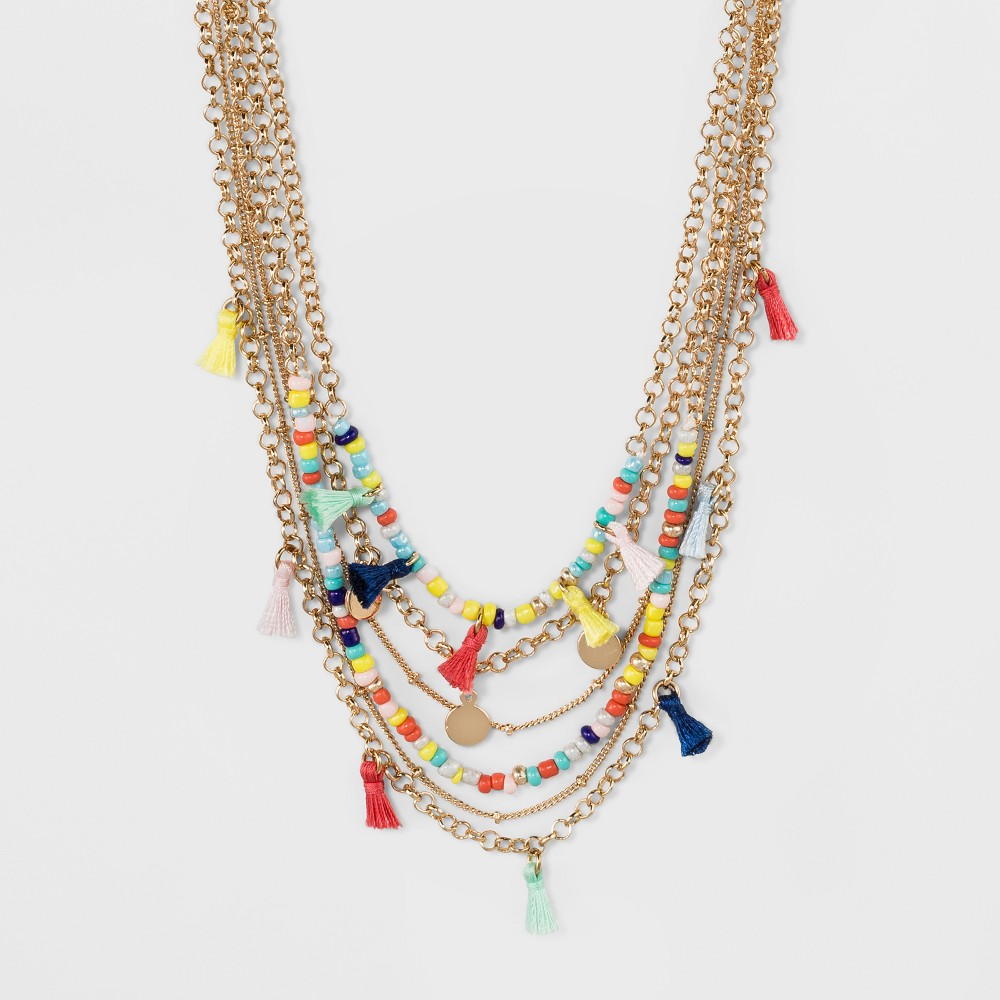 Sugarfix by BaubleBar Beaded Statement Necklace, Girl's, Multi-Colored