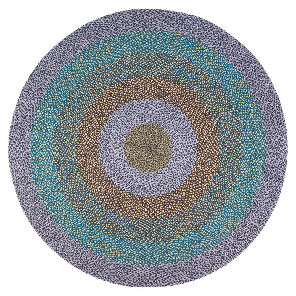 6' Round Blend Jute Rug Purple/Blue - Anji Mountain 6' Round Blend Jute Rug Purple/Blue - Anji Mountain Gender: unisex. Pattern: Shapes.