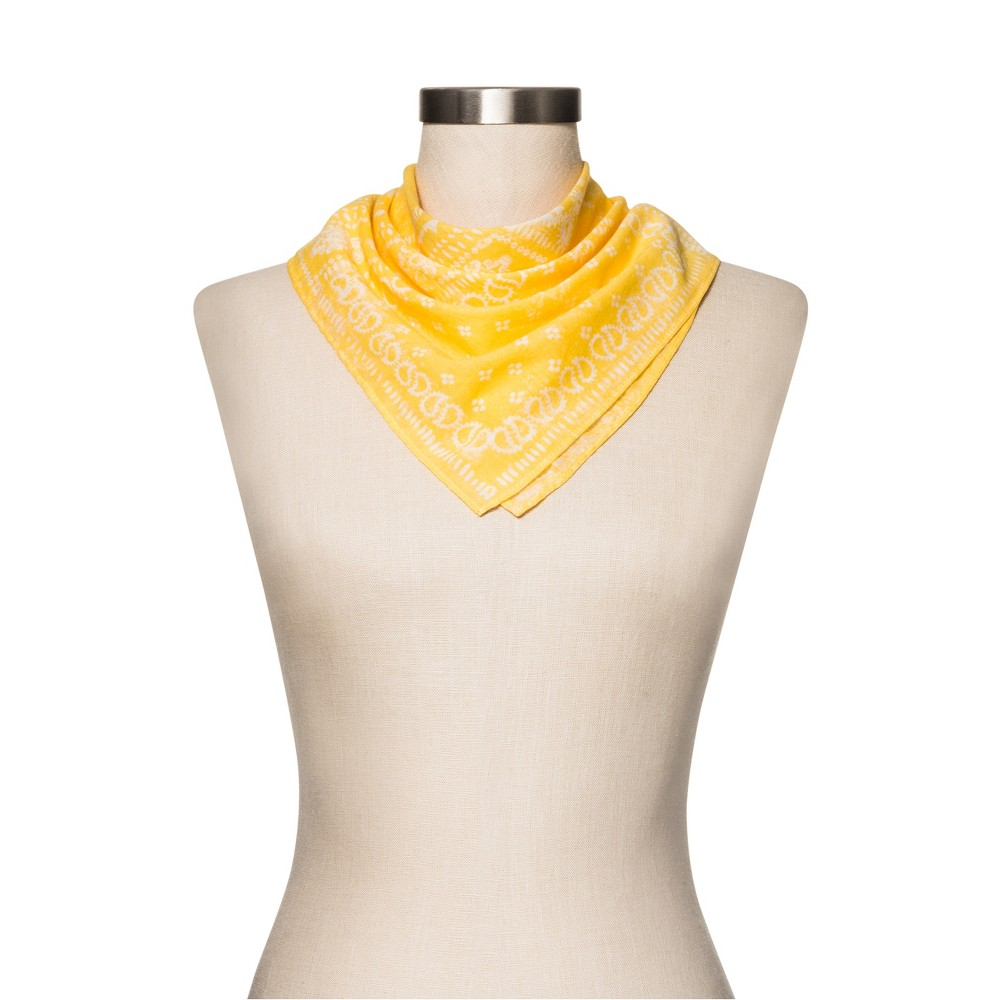 Women's Floral Handkerchief - Merona Yellow One Size