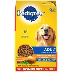 Pedigree Adult Complete Nutrition Chicken Rice and Vegetable Flavor Dry Dog Food