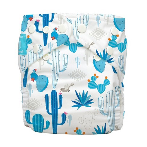 Charlie Banana Reusable All-in-One Cloth Diaper - Cactus Azul - image 1 of 4