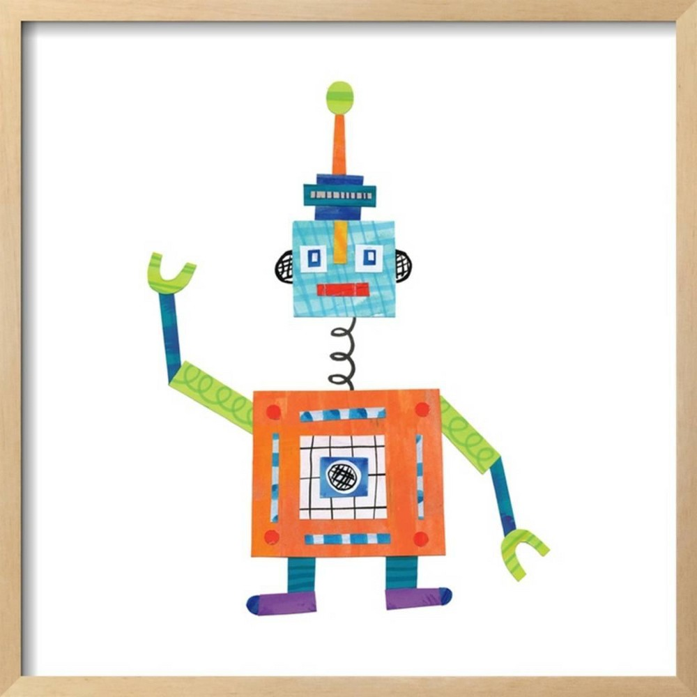 Robot Party Iii By Melissa Averinos Framed Wall Art Poster Print 25