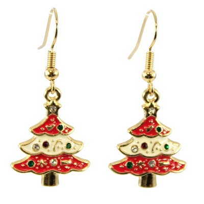"Jewelry 1.5"" Festive Christmas Earrings. Santa Candycane Tree Snowman  -  Costume Jewelry"