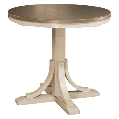 Clarion Round Counter Height Dining Table Distressed Gray/Sea White - Hillsdale Furniture