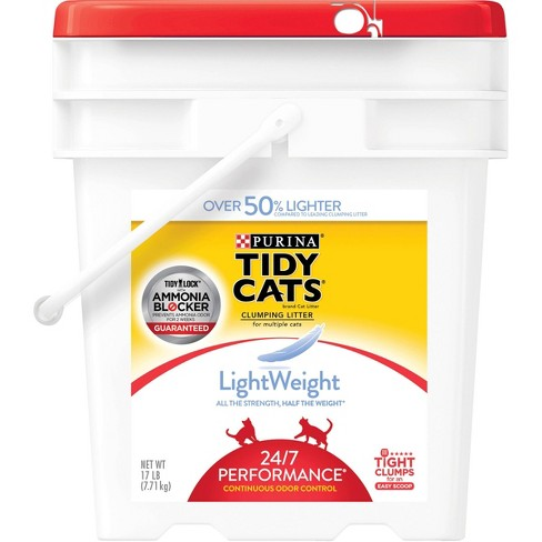 Purina Tidy Cats Light Weight Dust Free Clumping Cat Litter  LightWeight 24/7 Performance Multi Cat Litter - 17lb Pail - image 1 of 4