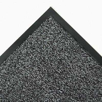 4'x6' Rectangle Indoor and Outdoor Solid Floor Mat Gray - Crown