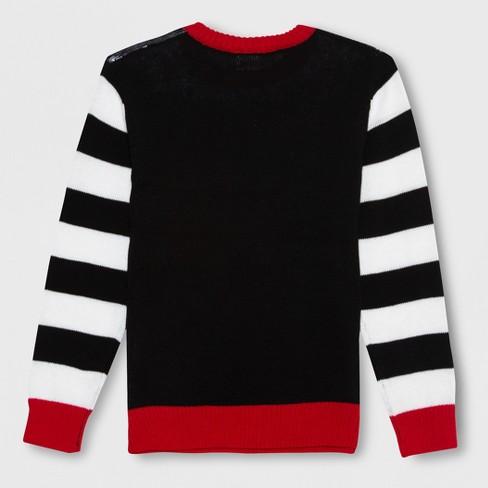 Well Worn Boys Santa Dino Ugly Christmas Sweater Blackwhite Target