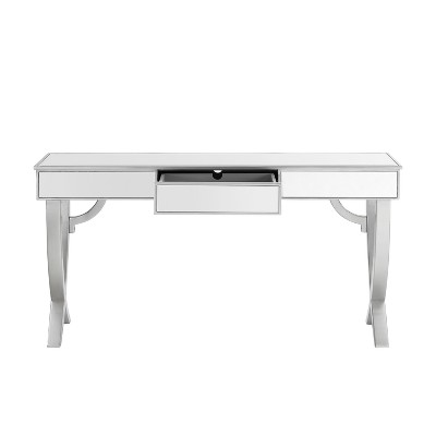 Merveilleux Kinley Mirrored Console Table Silver   Powell Company