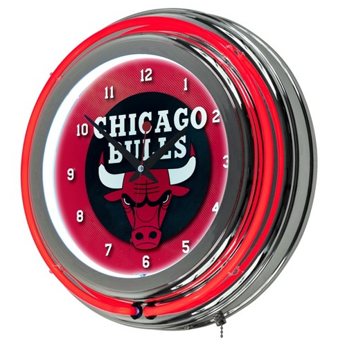 Chicago Bulls Team Logo Wall Clock - image 1 of 1