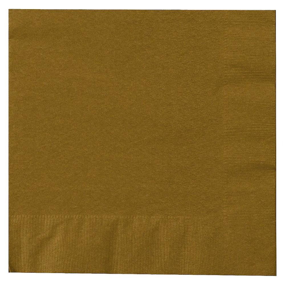 50ct Dinner Napkin Gold, Disposable Napkins