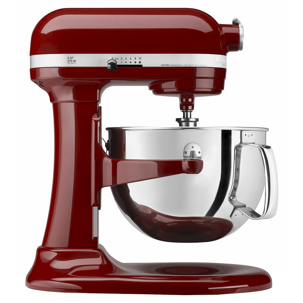 KitchenAid Professional 600 Series 6-Quart Bowl-Lift Stand Mixer - KP26M1X, Red The KitchenAid Professional 600 Series 6 Quart Bowl-Lift Stand Mixer is perfect for heavy, dense mixtures. It also offers the capacity to make up to 13 dozen cookies in a single batch and 10 speeds to thoroughly mix, knead and whip ingredients quickly and easily. For even more versatility, use the power hub to turn your stand mixer into a culinary center with over 10 optional hub powered attachments, from food grinders to pasta makers and more. Color: Cinnamon.