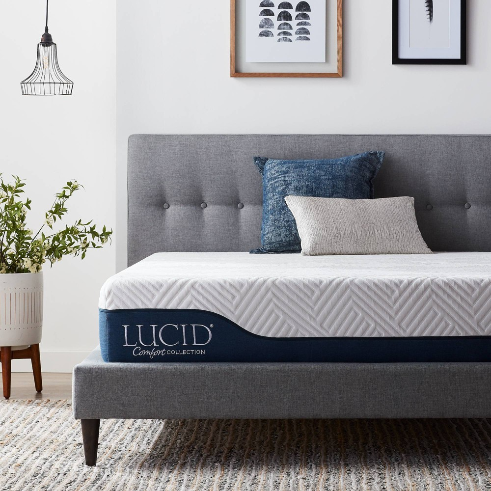 "Image of ""California King Comfort Collection 10"""" Gel & Aloe Vera Hybrid Memory Foam Mattress - Lucid"""