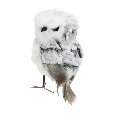 Kurt S Adler 45 Standing Fluffy Owl Christmas Ornament White