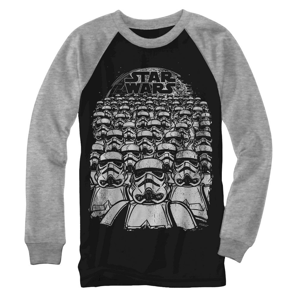 Boys' Star Wars Troopers Marching Long Sleeve Graphic T-Shirt - Black M