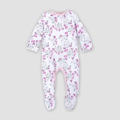 Burt's Bees Baby® Baby Girls' Organic Cotton Mosaic Bloom Jumpsuit - Purple Newborn