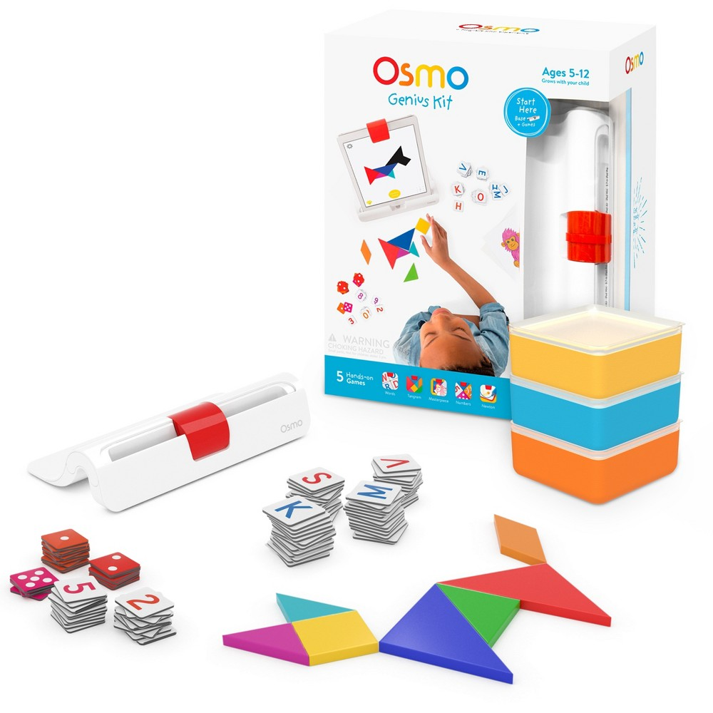 Osmo Genius Kit Educational Play System - (Osmo iPad Base Included), White