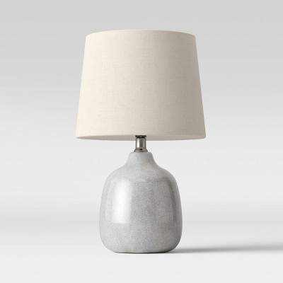Assembled Ceramic Table Lamp (Includes LED Light Bulb)Gray - Threshold™