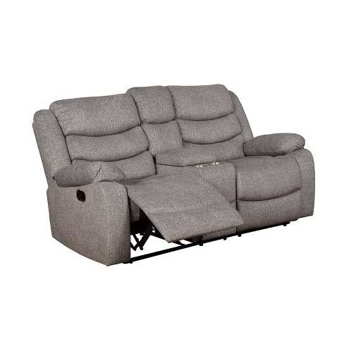 Reston Pillow Top Arms Recliner Love Seat Light Gray - miBasics - image 1 of 4