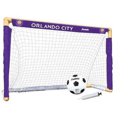 MLS Orlando City SC Size 1 Mini Soccer Goal Set