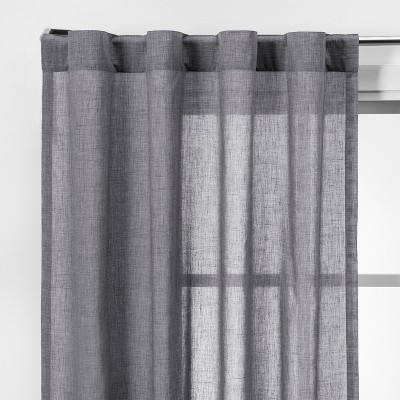 2pk 42 x63  Light Filtering Window Curtain Panels Gray - Made By Design™