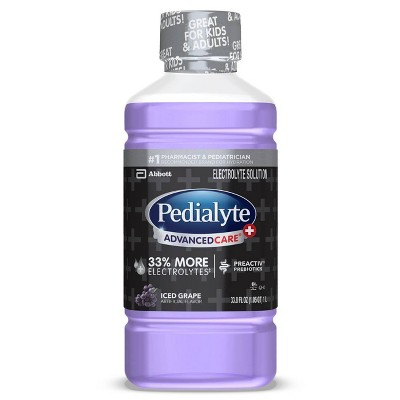 Pedialyte AdvancedCare Plus Electrolyte Solution - Iced Grape - 33.8 fl oz