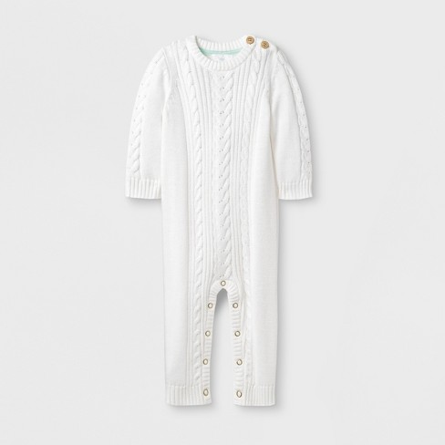Baby Cable Romper - Cloud Island™ Ivory - image 1 of 1