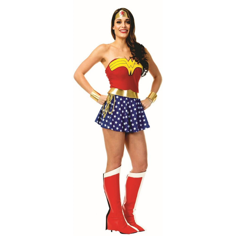 Women's Wonder Woman Halloween Costume M, Multicolored