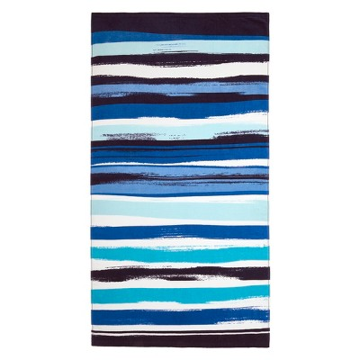 Wavy Stripe Beach Towel Cool Blue