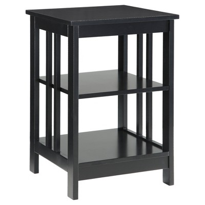 Mission End Table - Black - Convenience Concepts