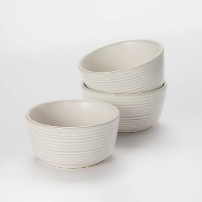 6.7oz 3pk Stoneware Pinch Bowls - Threshold™ designed with Studio McGee