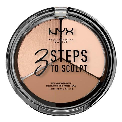 NYX Professional Makeup 3 Steps to Sculpt Face Sculpting Pressed Powder Palette - 0.54oz - image 1 of 4