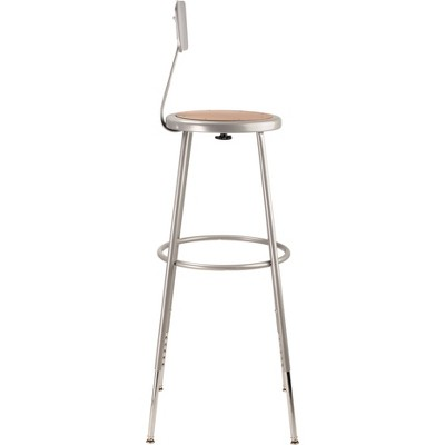 2pk Adjustable Heavy Duty Steel Stool With Backrest Gray - Hampton Collection : Target