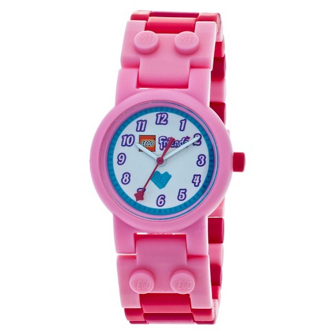 LEGO®  Friends Stephanie Kids Interchangeable Links with Mini Doll Watch - Pink - image 1 of 7