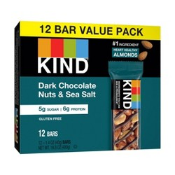 Kind Dark Chocolate Nuts & Sea Salt Nutrition Bars 12ct / 1.4oz