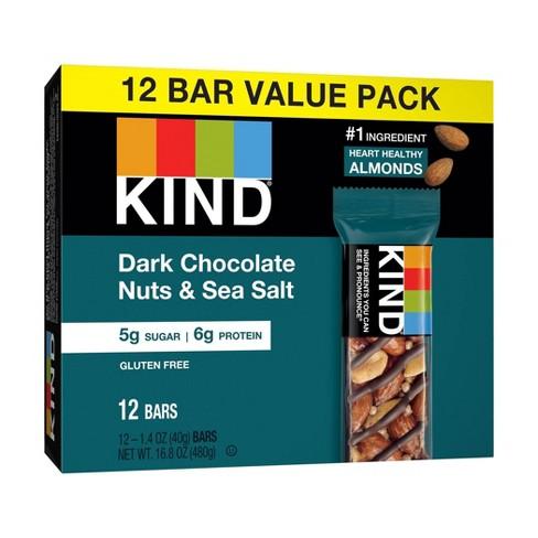 Kind Dark Chocolate Nuts & Sea Salt Nutrition Bars 12ct / 1.4oz - image 1 of 4