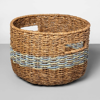 Large Basket Blue Striped 9.25 x13  - Opalhouse™