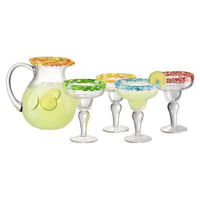 Artland® Mingle 5pc Pitcher and Glasses Margarita Set Multicolored