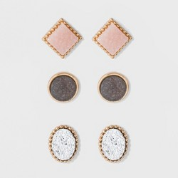 SUGARFIX by BaubleBar Druzy Stud Earring Set